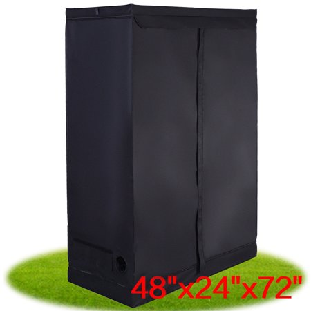 Costway Indoor Grow Tent Room Reflective Hydroponic Non Toxic Clone Hut 6 Size (48