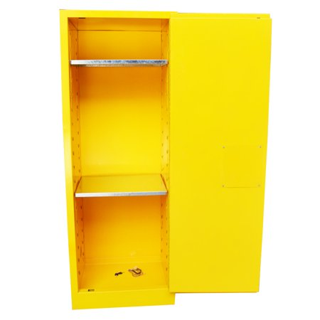 INTBUYING Flammable Safety Cabinet 22 Gal Yellow Security Shelving Storage Bins - image 5 de 5