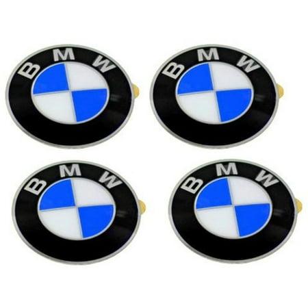 Wheel Center Cap Emblems (4) OEM 64.5mm E46 E60 E90 E92; 36136767550, Brand NEW OEM BMW part By