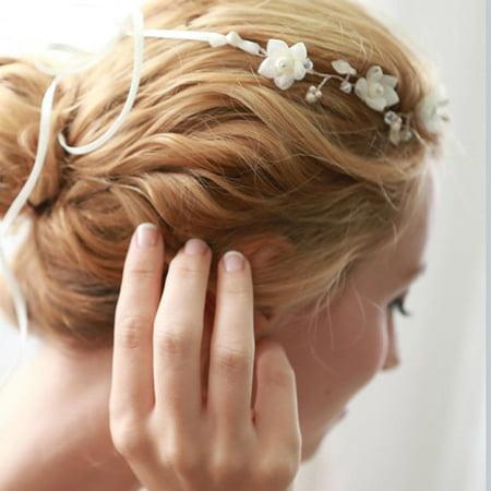 Women's Wedding Crystal Bridal Flower & Pearl Crown Headband Tiara Headdress](Flower Crowns Diy)