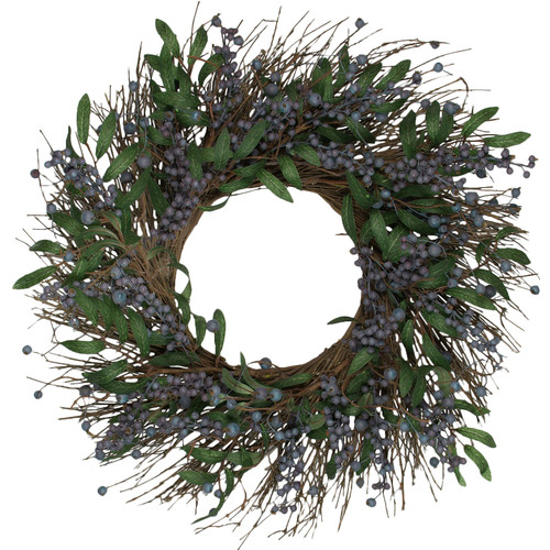 Darby Home Co Artificial 24'' Blueberry Wreath