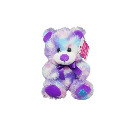 Way To Celebrate Plush Glitter Purple Bear - Purple Bear