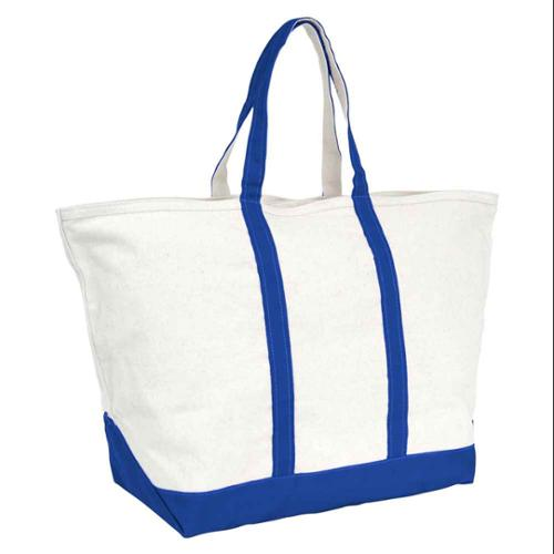 Zipper Top Boat and Beach Tote in Royal Blue