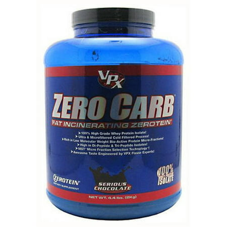 VPX Zero Carb Fat Incinerating Zerotein, Serious Chocolate, 4.4 (Vpx Zero Carb Fat)