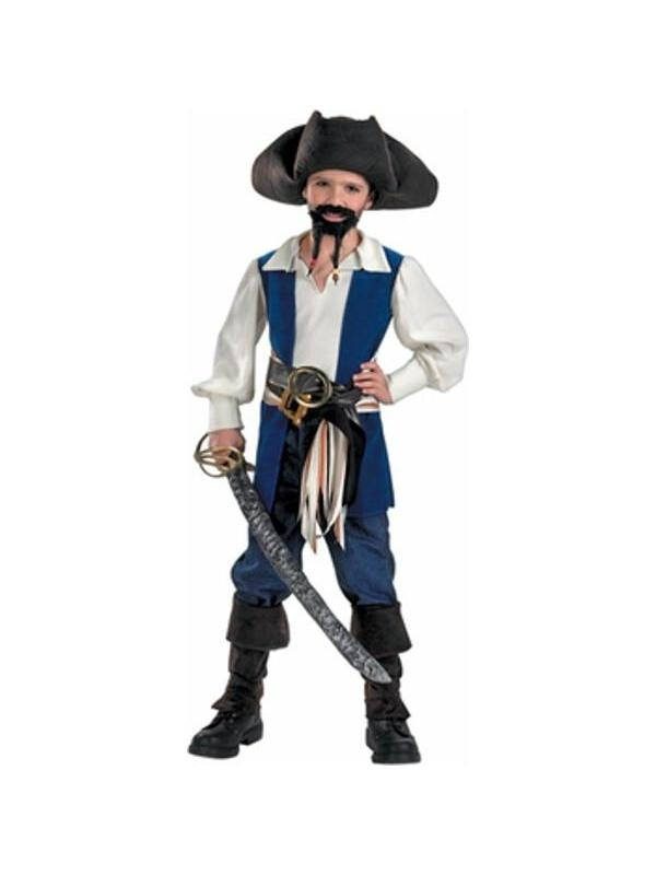 Child's Jack Sparrow Pirate Costume by