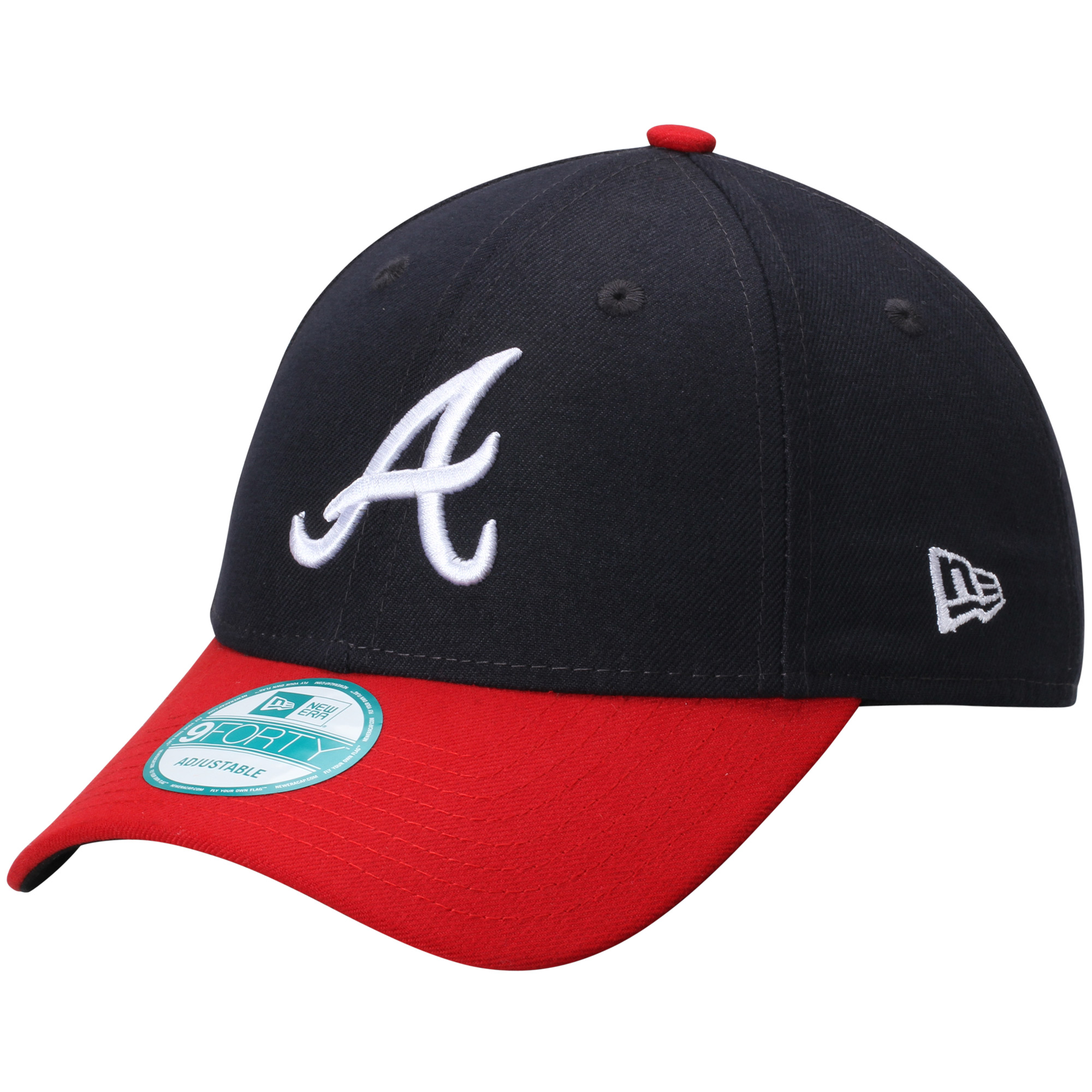 Atlanta Braves New Era Men's League 9FORTY Adjustable Hat - Red/Navy - OSFA