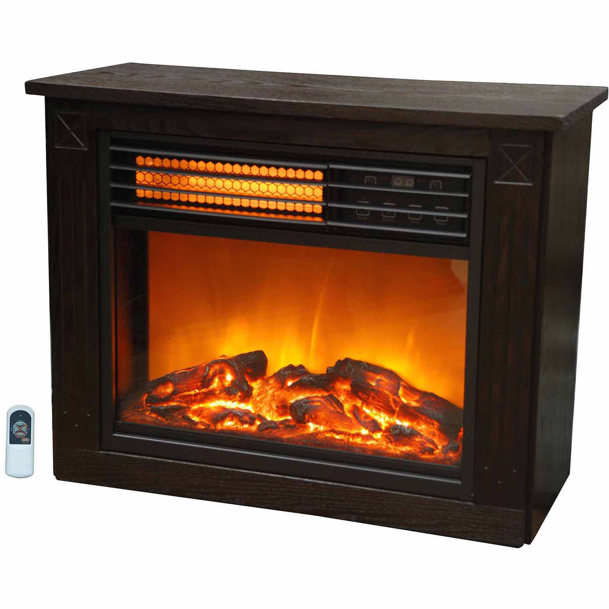 Lifezone Compact Infrared Electric Space Heater Fireplace, SGH-2001FRP13