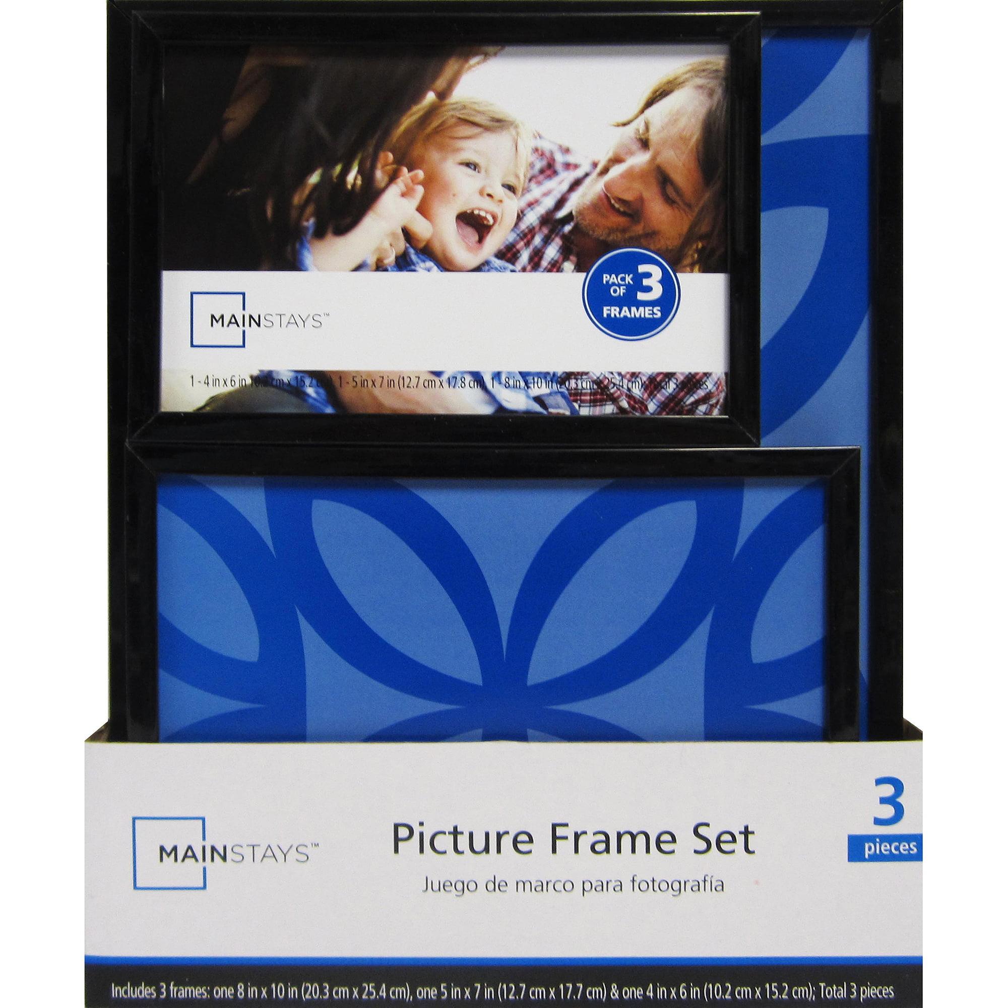 Mainstays 3-Piece Frame Set, Black - Walmart.com