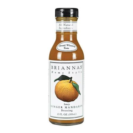 Brianna's Salad Dressing - Saucy Ginger Mandarin - Pack of 6 - 12 Fl