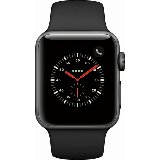 Refurbished  Apple Watch 38mm Series 3 GPS + Cellular with Sport Band MQJN2LL/A