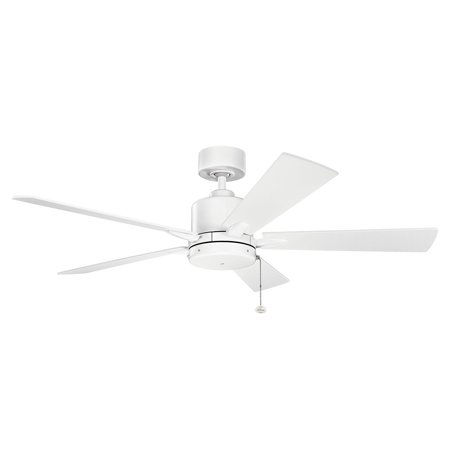 52 Inch Steel Wall - Indoor Ceiling Fans Light With Matte White Tone Finished Steel Material 52 inch