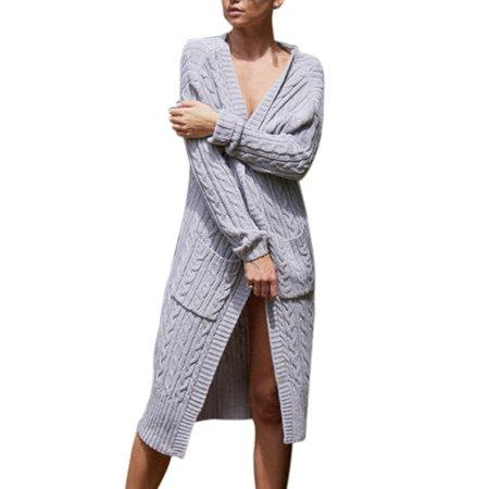 e87b7d4e2791 Sexydance - Women Winter Cardigan Loose Sweater Jumper Long Maxi ...