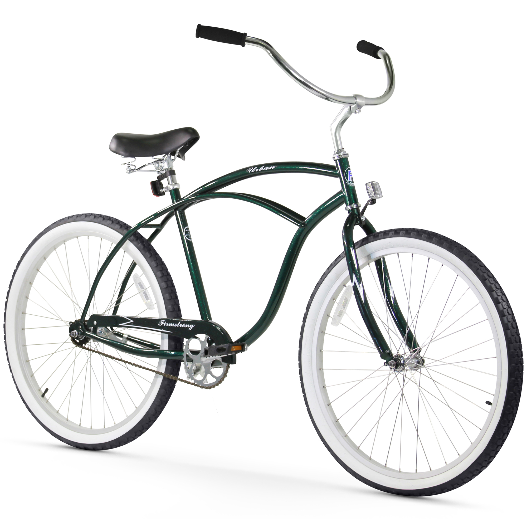"Firmstrong Urban Man, 26"", Men's, Single Speed, Emerald Green"