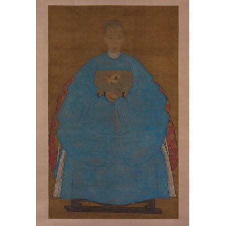Portrait of an Old Lady Poster Print by Ruan Zude (Chinese 16th or early 17th century) (18 x 24)