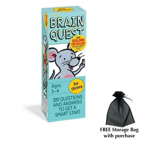 Brain Quest for Threes with free storage bag, Fun and fast-paced board game based on the beloved book Green Eggs and Ham by Dr. Seuss By Workman Publishing