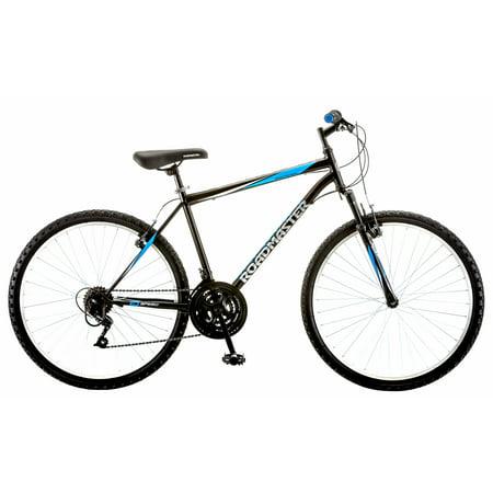 Roadmaster Granite Peak Mens Mountain Bike, 26u0022 wheels, Black/Blue