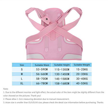 WALFRONT New Pink Back Shoulder Lumbar Waist Supporting Belt Bone Injury Correction Straighten Upper Back Slouching Corrective Prvent (M) - image 3 of 8