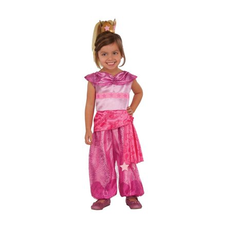 Rubies Costume Child's Shimmer and Shine Leah Costume, Small, Multicolor, Shimmer and Shine's Leah genie costume is a pink jumpsuit and headpiece By Rubie's (Genie Costumes For Teens)