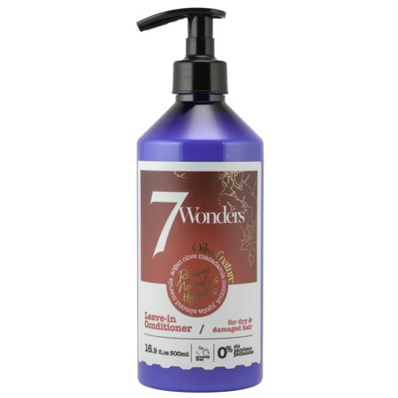 Organics Nourishing Conditioner - 7 Wonders Nourishing Leave In Conditioner with Pure Organic Oils of Almond, Marula, Argan, Olive, Macadamia, Coconut & Jojoba 16.9 fl. Oz.