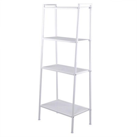 4 Tier Metal Leaning Ladder Storage Rack Shelf Bookshelf Bookcase Corner Display 23-3/5