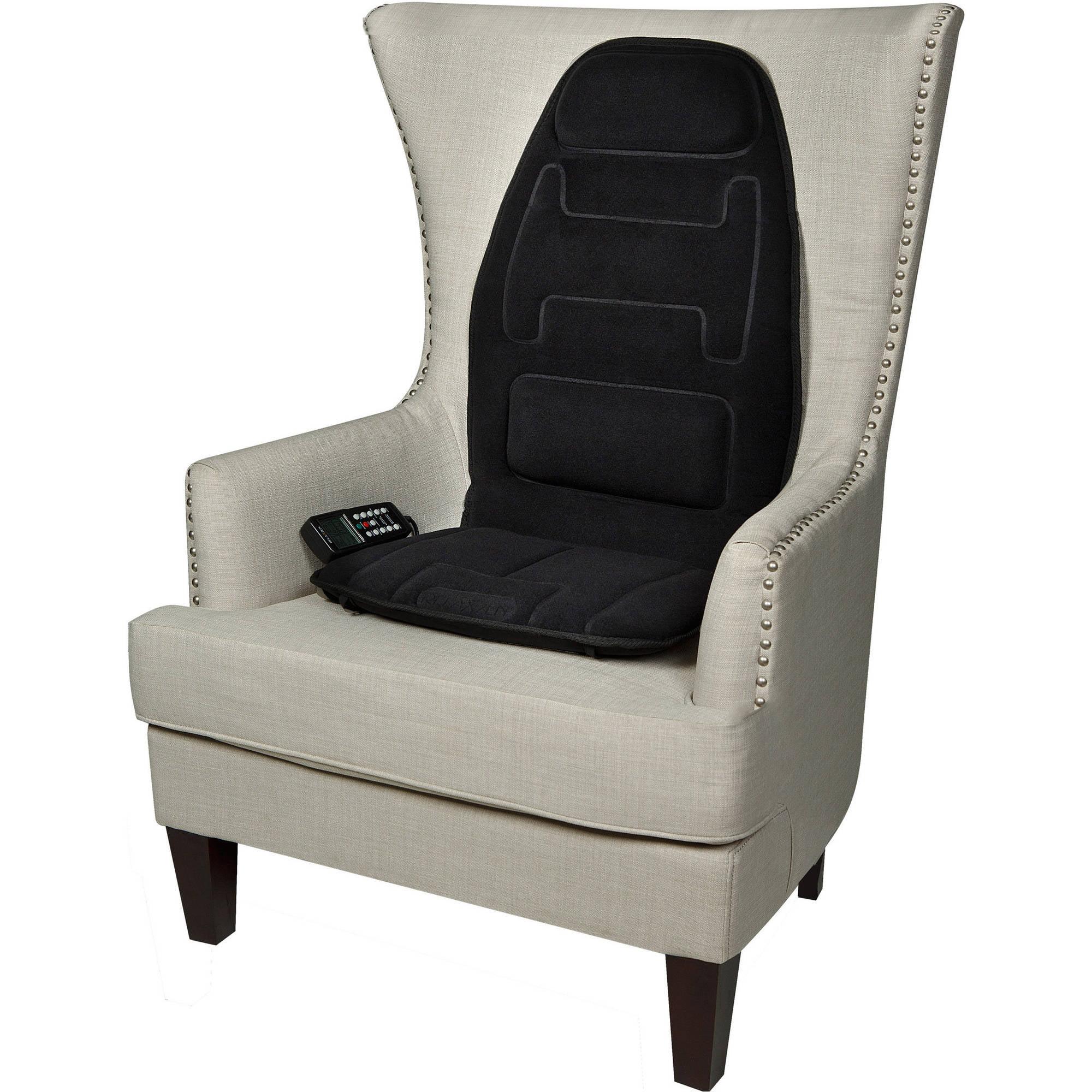 Relaxzen 60 2910P Massage Seat Cushion Black Walmart