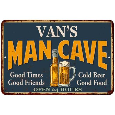 VAN'S Man Cave Personalized Metal Sign Green Gift 8x12 208120012487](Personalized Vans)