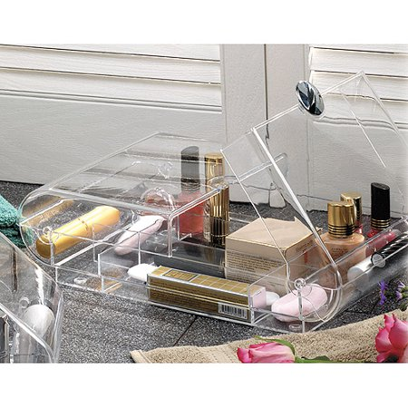 BHG shop; Generic. Cosmetic Organizer Large $ $ at Walmart See it Now. Store and organize your make-up and other essentials in this cosmetic box. Made from heavy duty clear plastic. 16 compartments to hold a lot of items. Perfect for make-up and jewelry. The Large Cosmetic Organizer Drawers are just what you need to get your.