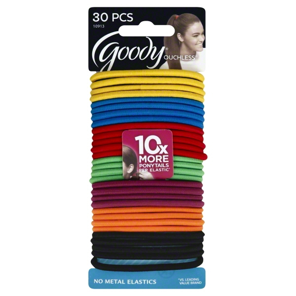 (2 Pack) Goody Ouchless No-Metal Elastics, 30 count
