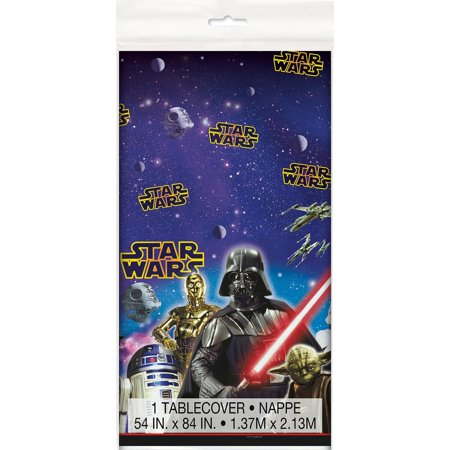 Unique Plastic Star Wars Table Cover, 84-Inch by 54-Inch (Star Wars Table)