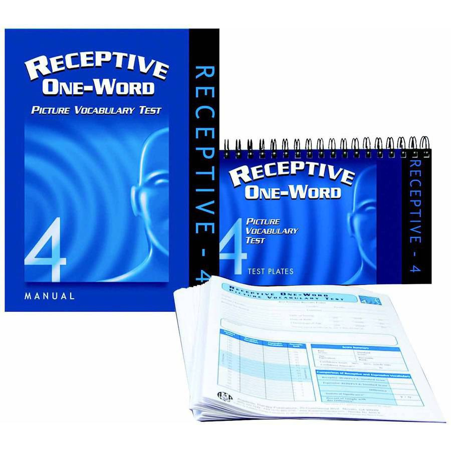 Image of Academic Therapy Publications Receptive One Word Picture Vocabulary Test 4th Edition, Set of 25 Forms