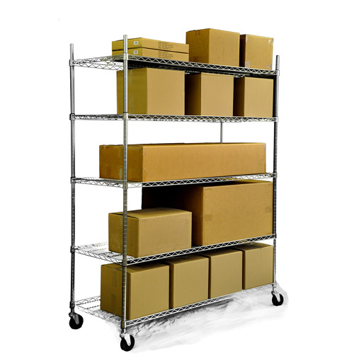 "TRINITY 5-Tier Heavy-Duty NSF Chrome Wire Shelving, 24"" x 60"""