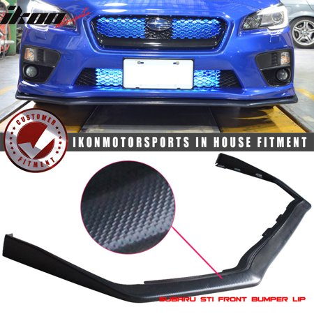 Compatible with 15-19 Subaru WRX STI OE Style Front Bumper Lip Spoiler Carbon Look - ABS