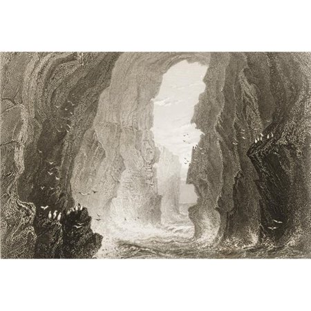 Posterazzi DPI1860319 Dunkerry Cave County Antrim Ireland Drawn by Whbartlett Engraved by R Brandard From the Scenery & Antiquities Poster Print, 17 x 11 - image 1 of 1