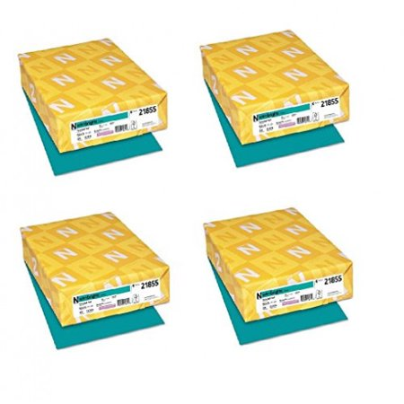 Neenah Paper Astrobrights Colored Card Stock 250 Sheets, Terrestrial Teal (Set of 4) ()