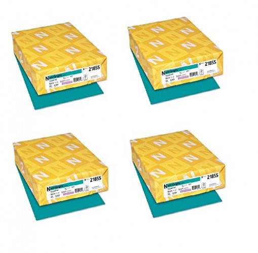 Neenah Paper Astrobrights Colored Card Stock 250 Sheets, Terrestrial Teal (Set of 4)