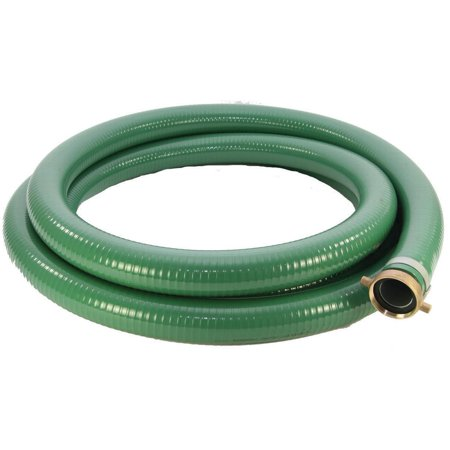 ABBOTT RUBBER 1240-2000-20 Suction Hose, 2 in x 20 ft, Male Threaded x Female Coupling, - Pvc Female Thread Pipe Coupling