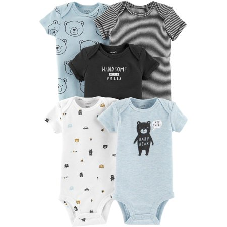 Carters Baby Boys 5-pk. Handsome Fella Bodysuits