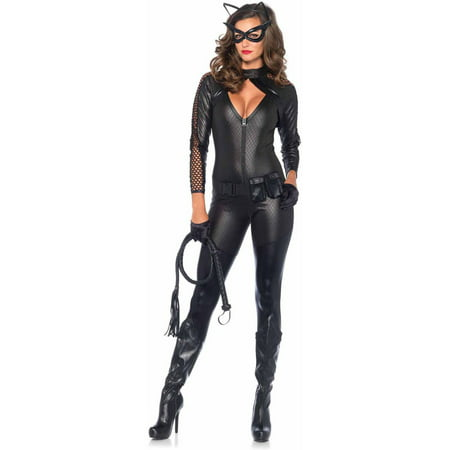Heroes And Villains Costume (Leg Avenue Women's Sexy Wicked Kitty Cat Villain)