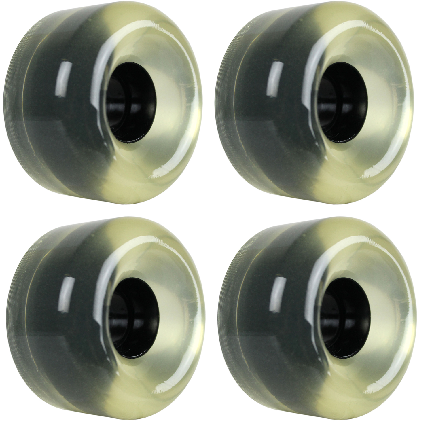 Longboard Wheels 70mm Smooth Clear USA Made 78A