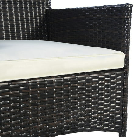 2PC Chairs Outdoor Patio Rattan Wicker Dining Arm Seat w/ Cushions - image 2 of 10