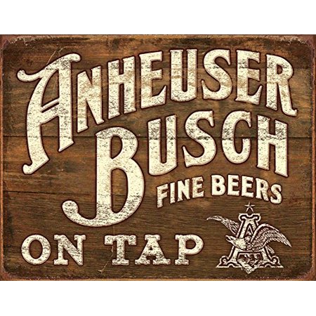 Anheuser  Busch   Fine Beers Tin Sign 16 X 13In
