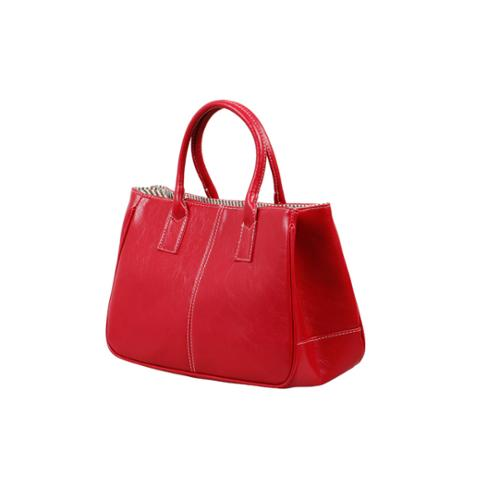 Bundle Monster Womens PU Faux Leather 2 Compartment Magnetic Snap Purse-RED