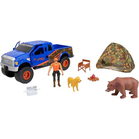 Adventure Force Outdoor Adventure Deluxe Vehicle Play Set, Blue Ford F-250