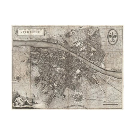 Map of the City of Florence by Giuseppe Molini Print Wall Art](Party City Florence)