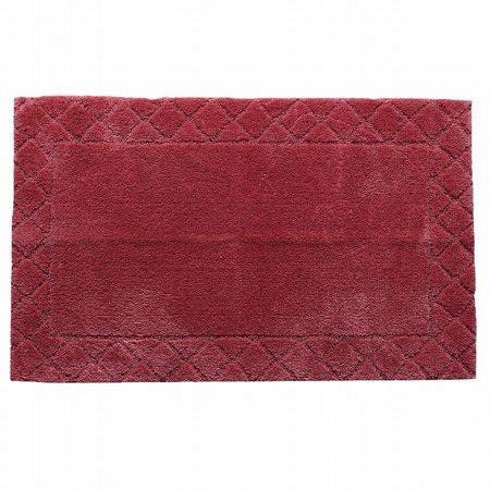 Chaps Cranberry Red Plush Pile Throw Rug 20x34 Skid