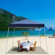 Zimtown 10'x10' Instant Canopy POP Up Wedding Party Tent Folding Gazebo Beach Canopy withCarry Bag Blue