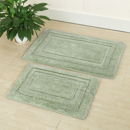 2 Piece Non Slip Bath Rug Set Mat Bathroom Rugs
