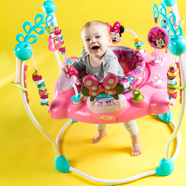 432c0b85f Disney Baby Minnie Mouse PeekABoo Activity Jumper - Walmart.com