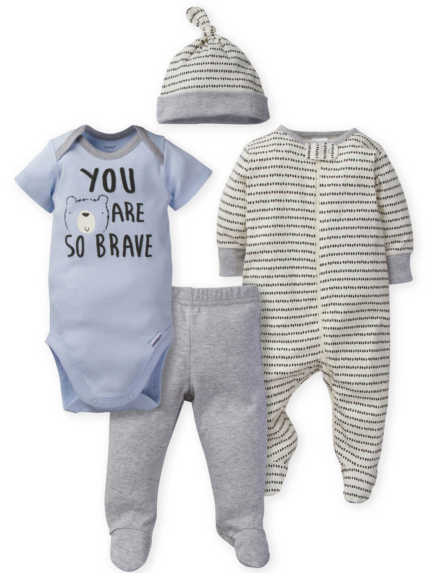 Unisex Baby Christmas Outfit Clothe Rompers Bodysuit 4Pc Set Shirt+Pant+Hat+Belt