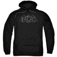 trevco men's beware the batman hoodie sweatshirt, b&w black medium